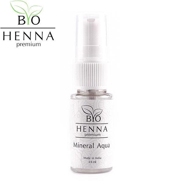 BIO HENNA PREMIUM Mineral Aqua ásványi oldat henna hígításához 15 ml