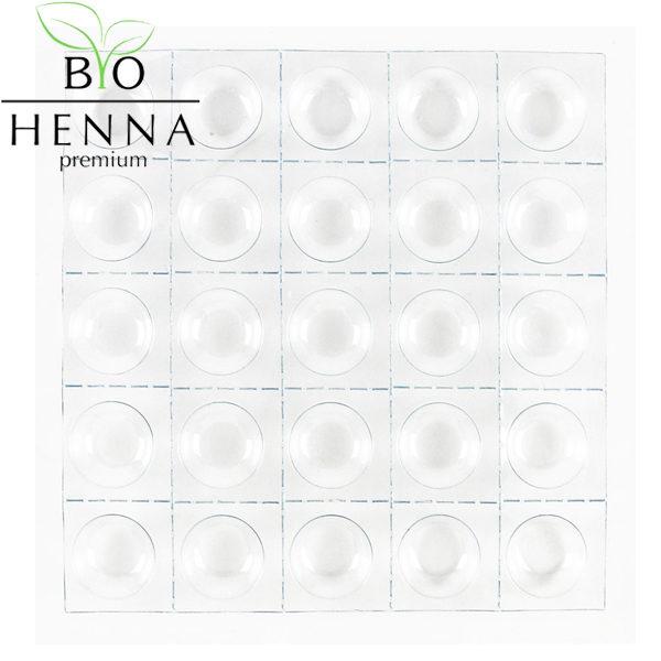 BIO HENNA PREMIUM Professzionális műanyag keverő paletta 25 szín keveréséhez